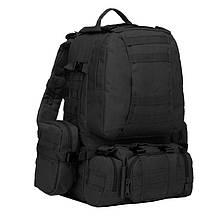 Рюкзак тактичний з підсумкими (55л), чорний