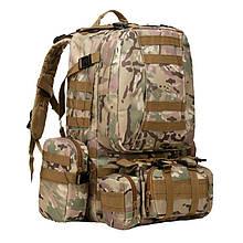 Рюкзак тактичний з підсумкими (55л), мультикам