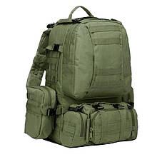 Рюкзак тактичний з підсумкими (55л), олива
