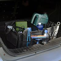 Великий складний органайзер для багажника авто. Колір чорний (АО-1007-2)