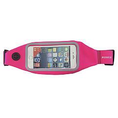 Сумка-пояс ROMIX с сенсорным экраном Pink RH01-5.5P, КОД: 212720