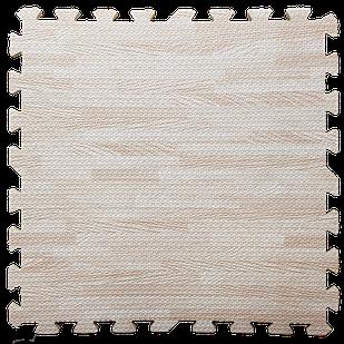 Пол пазл - модульное напольное покрытие 600x600x10мм светлое дерево