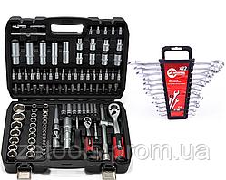 Набор инструментов 108 ед.+ комбинированные ключи 12 ед. PROFLINE! 61087-0004