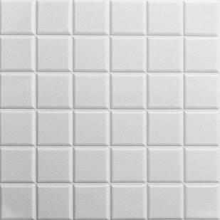 Самоклеющаяся декоративная потолочно-стеновая 3D панель кубы 600x600x7мм