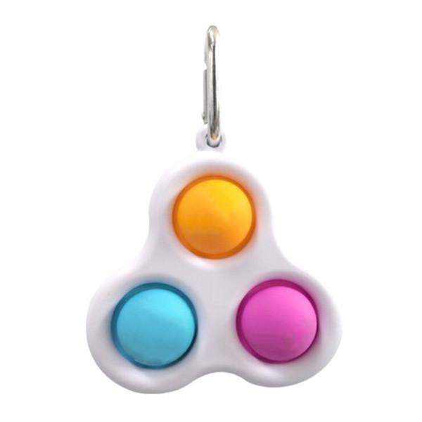 Simple Dimple Антистрес Іграшка Сімпл Дімпл - Pop It - Поп Іт - Попит - Popit) - Білий Брелок з карабіном -