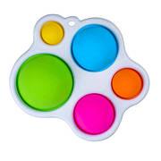 Simple Dimple Антистрес Іграшка Сімпл Дмимпл - Pop It - Поп Іт - Попит - Popit) - Білий Брелок Фігурний з