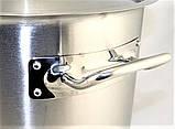 Велика каструля Benson BN-628 (9 л) з кришкою з нержавіючої сталі | посуд для кафе і ресторану Бенсон, фото 5