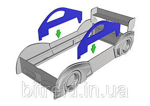 Бортики безпеки на ліжко-машину-190
