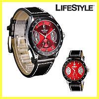 Мужские механические часы Winner F1 красный циферблат, Наручные часы