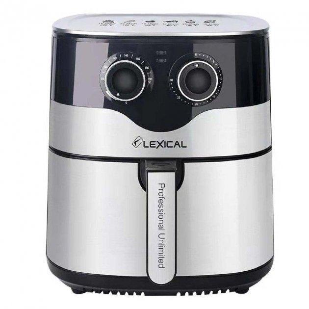 Фритюрниця Lexical LAF-3004 (8 л, 1800 Вт, знімна кошик) | аэрофритюрница електрична, аерогриль