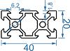 Алюминиевый станочный профиль 20*20 мм, фото 5