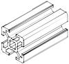 Алюминиевый станочный профиль 20*20 мм, фото 3