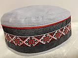 Талибанка лляна з вишивкою розмір 56-60 колір сірий і рожевий, фото 3