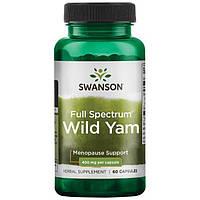 Дикий Ямс полного спектра, Wild Yam, Swanson, 400 мг, 60 капсул