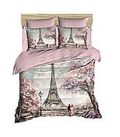 Постільна білизна Євро 200*220 бавовна LIGHT HOUSE ranforce 3D малюнок Paris Spring