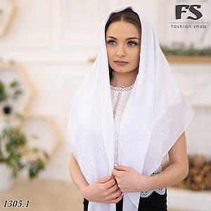 Белый  платок свадебный Ирис ДЕФЕКТ!