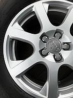 Диски оригінал Audi Q5 R17 5x112 7J ET37+нові шини DUNLOP 3D 235/65R17, фото 1