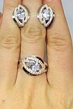 Сережки в серебре с золтом Гламур, фото 5