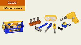 Набор инструментов 29133(24шт/2)в комплекте дрель, отвертки, маска, болты, рулетка, в окрытом чемоданчике