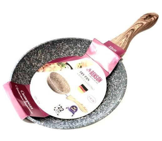 Сковорода Benson BN-529 (22 см) с антипригарным гранитным покрытием   сковородка Бенсон, сотейник Бэнсон