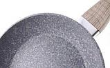 Сковорода Benson BN-529 (22 см) с антипригарным гранитным покрытием   сковородка Бенсон, сотейник Бэнсон, фото 2