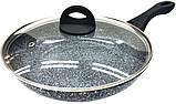 Сковорода Benson BN-568 с мармуровим антипригарним покриттям (24*5см) індукція, бакелітова ручка | сковорідка, фото 2
