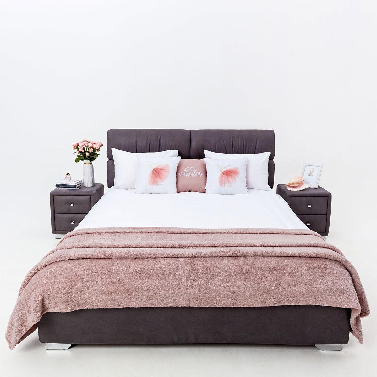 Стильна м'яке ліжко Манчестер з підйомним механізмом Novelty, оббивка на вибір