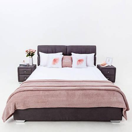 Стильна м'яке ліжко Манчестер з підйомним механізмом Novelty, оббивка на вибір, фото 2