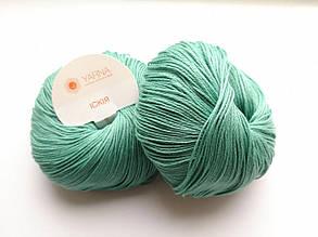 Пряжа Искья Ярна Италия, цвет 8 серо-зеленый