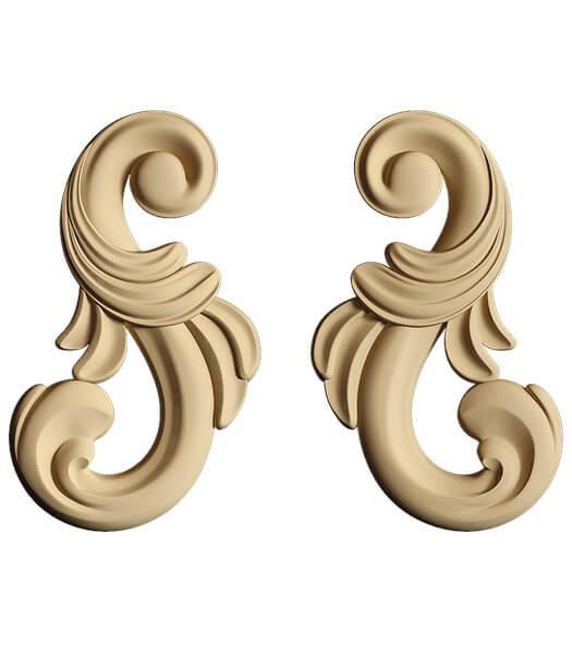 Декор для меблів - декоративний елемент Carving Decor DS 01