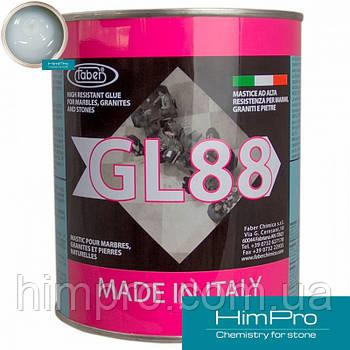 Faber GL88 Cristallino прозрачный (стеклянный) полугустой полиэфирный двух-компонентный клей 1L