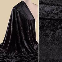 Велюр стрейч мраморный черный (компаньон) ш.160 (10864.006)