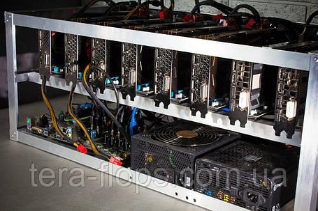 Майнинг ферма, риг на 12 видеокарт (768 Mh/s) / RX 6800/RX 6800 XT, фото 2