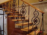Лестницы с кованными элементами