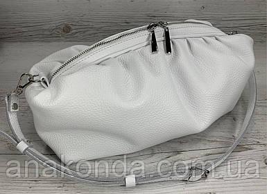 620 Натуральная кожа Объемная женская сумка клатч pouch. Сумка женская белая -кожаная сумка пельмень белая