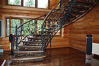 Кованые лестницы в коттеджи
