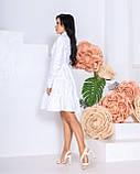 Женское платье с воротником свободный фасон ткань коттон длинный рукав размер: 42-44, 46-48, фото 2