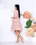 Женское платье с воротником свободный фасон ткань коттон длинный рукав размер: 42-44, 46-48, фото 6