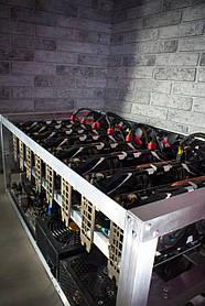 Майнинг ферма, риг на 8 видеокарт (312 MH/s) GTX 1080 Ti 11GB
