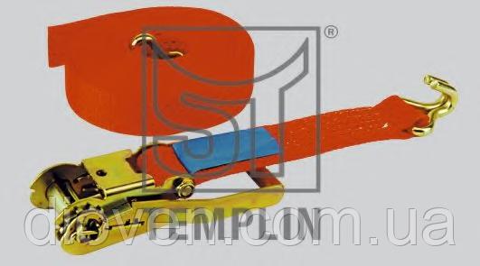 Ремень стяжной 10м 5т MB, MAN, VOLVO, SCANIA, IVECO, RENAULT, BPW, SAF (пр-во Templin) (Арт. 16.010.7900.090)