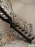 Кованные  лестницы в частном доме