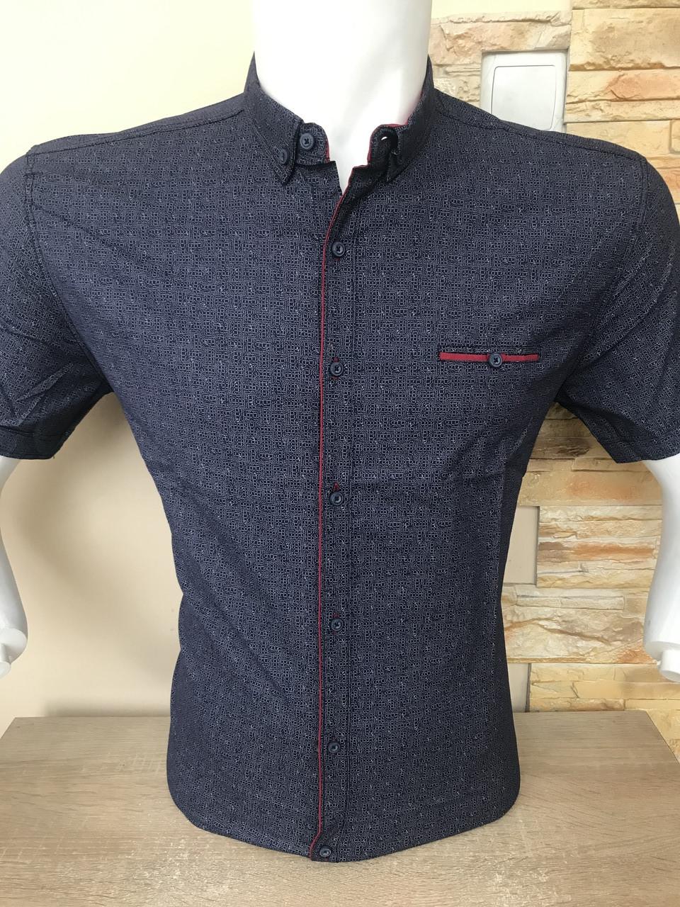 Рубашка короткий рукав G-Port (model*140) с принтом