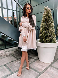 Женское платье свободного кроя с кружевом 42-48 р