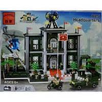brick конструктор 825 полицейский штаб, полиция, brick