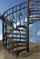 Деревянные лестницы с кованными элементами
