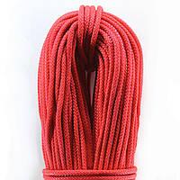 Шнур поліпропіленовий плетений 4,0 мм 100метрів в'язаний з сердечником білий