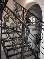 Кованые поручни для лестницы