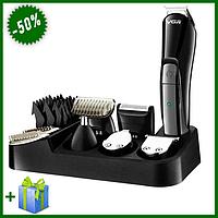Машинка для стрижки волос VGR V-012 6 в 1, Беспроводной триммер для мужчин