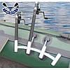 Тримач для спінінга човни пвх НЕРЖАВІЙКА підставка для вудки 4-ва стійка для вудки установка на балон, фото 2