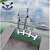 Тримач для спінінга човни пвх НЕРЖАВІЙКА підставка для вудки 4-ва стійка для вудки установка на балон, фото 6